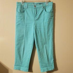 Style & Co Turquoise Blue Jean Capri Pants